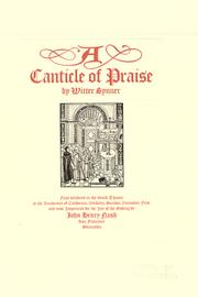 Cover of: A canticle of praise