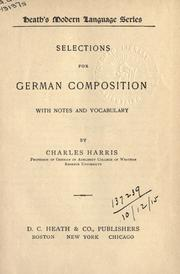 Cover of: Selections For German Composition