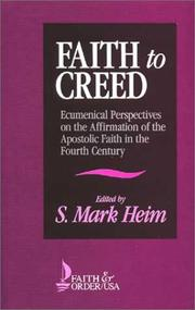Cover of: Faith to Creed