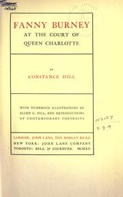 Cover of: Fanny Burney at the court of Queen Charlotte