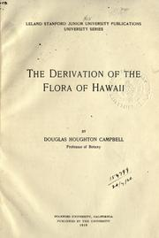 Cover of: The derivation of the flora of Hawaii