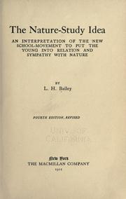 Cover of: The nature-study idea
