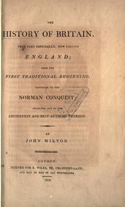 Cover of: The history of Britain, that part especially now called England
