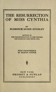 Cover of: The resurrection of Miss Cynthia