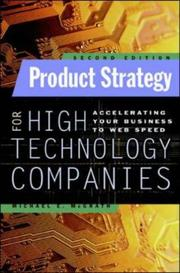 Cover of: Product Strategy for High Technology Companies | Michael E. McGrath