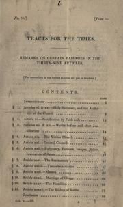Cover of: Remarks on certain passages in the Thirty-nine articles