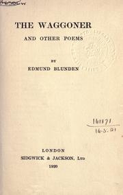 Cover of: The waggoner and other poems
