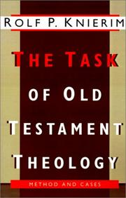 Cover of: The task of Old Testament theology