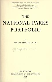 National Parks Portfolio 1916 Edition Open Library
