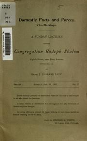 Cover of: A Sunday lecture before Congregation Rodeph Shalom, Eighth Street, near Penn Avenue, Pittsburg, PA