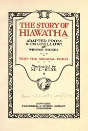 Cover of: The story of Hiawatha