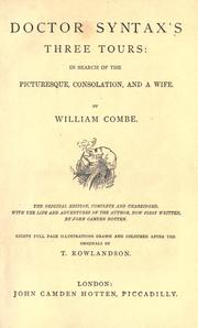 Cover of: Doctor Syntax's three tours | Combe, William