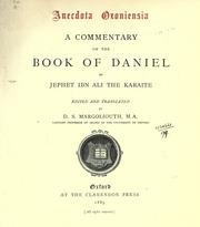 Cover of: A commentary on the book of Daniel