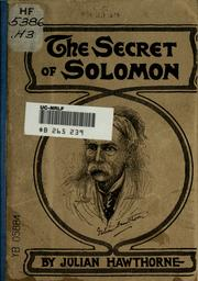 Cover of: The secret of Solomon