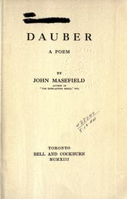Cover of: Dauber: a poem.