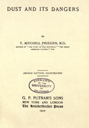 Dust and its dangers by T. Mitchell Prudden