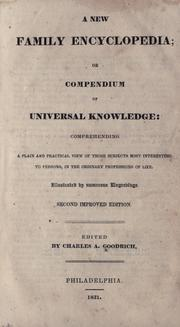 Cover of: A new family encyclopedia; or, Compendium of universal knowledge