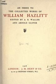 Cover of: Collected works: edited by A.R. Waller and Arnold Glover, with an introd. by W.E. Henley.