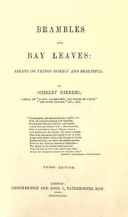 Cover of: Brambles and bay leaves