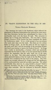 Cover of: St. Vrain's expedition to the Gila in 1826