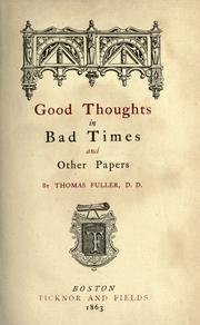 Cover of: Good thoughts in bad times and other papers