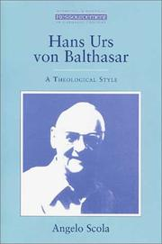 Cover of: Hans Urs von Balthasar