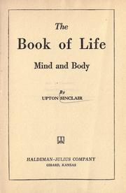 Cover of: The book of life: mind and body