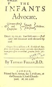 Cover of: The infants advocate