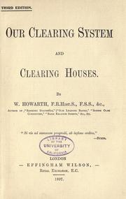 Cover of: Our clearing system and clearing houses
