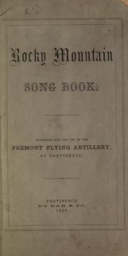 Cover of: Rocky Mountain song book |