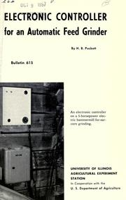 Cover of: Electronic controller for an automatic feed grinder