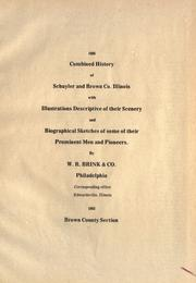 Cover of: Index of History of Schuyler and Brown Counties, Illinois by