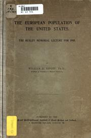 Cover of: The European population of the United States