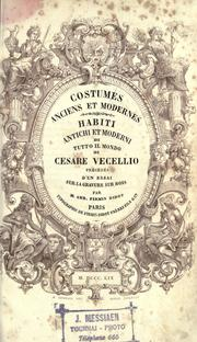 Cover of: Costumes anciens et modernes