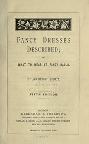 Cover of: Fancy dresses described by Ardern Holt