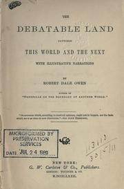 Cover of: The debatable land between this world and the next