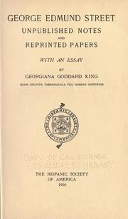 Cover of: George Edmund Street