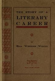 Cover of: Story of a Literary Career