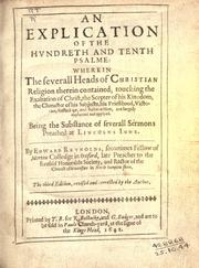 Cover of: An explication of the hundreth and tenth Psalme