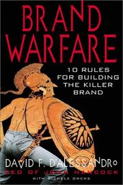 Cover of: Brand warfare | David F. D