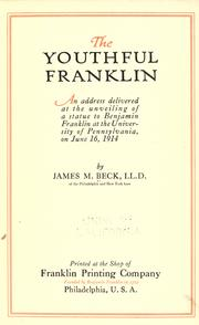 Cover of: The youthful Franklin