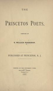 The Princeton poets by S. Miller Hageman