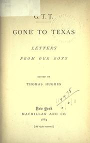 Cover of: Gone to Texas