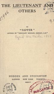 Cover of: The lieutenant and others