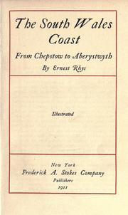 Cover of: The South Wales coast from Chepstow to Aberystwyth