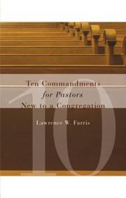 Cover of: Ten Commandments for Pastors New to a Congregation