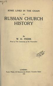 Cover of: Some links in the chain of Russian church history