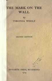 the mark on the wall virginia woolf pdf