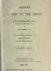 Cover of: Account of a visit to the front