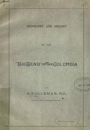"Cover of: Geography and geology of the ""Big Bend"" of the Columbia"